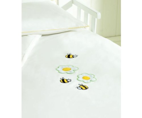 Saplings Cot Bed Duvet Cover And Pillowcase - Honey Bee
