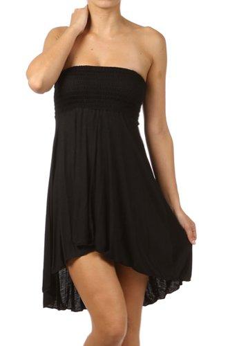 Modern Kiwi Eva High Low Dress Black Medium