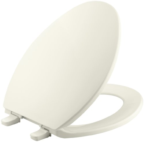 Kohler K-4774-96 Brevia Elongated Toilet Seat with Q2 Advantage, Biscuit