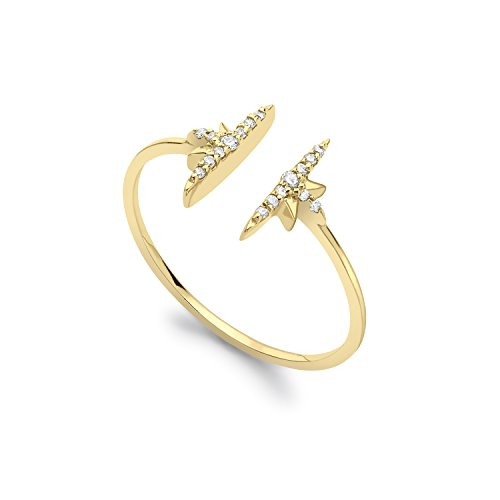 celine-daoust-14-ct-yellow-gold-round-white-diamonds-north-star-open-ring-size-k