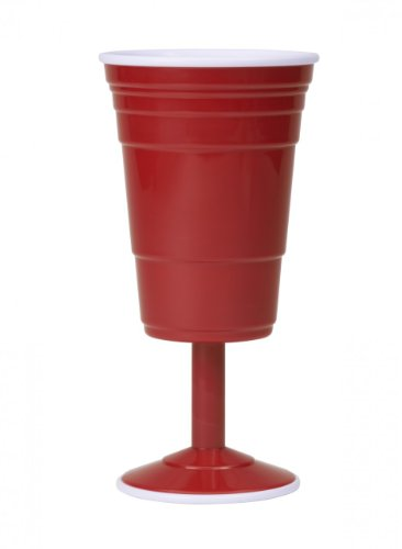 Red Cup Living Reusable Wine Cup, 14-Ounce, Red