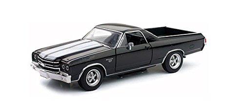 1970 Chevrolet El Camino SS Black 1/25 by New Ray 71883 (El Camino Model compare prices)