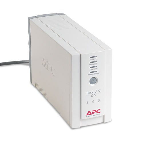 Apc Back-Ups Cs Battery Backup System Six-Outlet 500 Volt-Amps