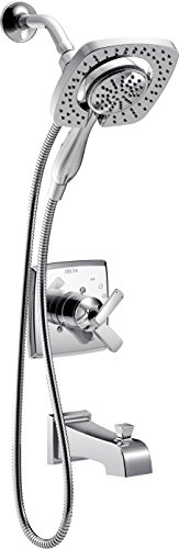 Delta T17464-I Ashlyn Monitor 17 Series Tub & Shower Trim with In2ition Two-in-One Handshower Showerhead, Chrome (Valve, shower arm, and flange sold separately) (Delta Shower Valve Kit compare prices)