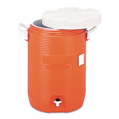 Rubbermaid Commercial Prod. Rubbermaid Five-Gallon Insulated Water Cooler. Keep Beverages Cold For Hours. Crack-Resistant Polyethylene For Long Life. Includes One Each. Manufacturer Part Number: Rhp 1840999 front-513871