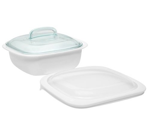 CorningWare SimplyLite / Corelle Bake, Serve, Store 1.5-Quart lightweight bakeware with Glass and Plastic Lids (3 piece Casserole Bake Set) (Corelle Bake And Serve compare prices)