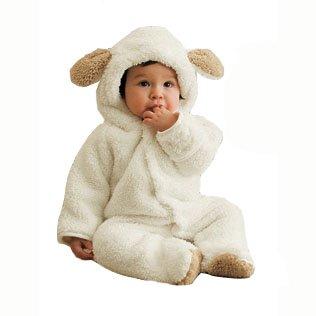 【ノーブランド品】赤ちゃん おくるみ 着ぐるみ うさぎ・ひつじ・くま 73cm 80cm 90cm カバーオール ロンパース (90, ひつじ)