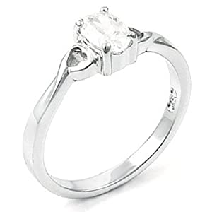 Sterling Silver CZ 52 Promise Engagement Ring 5 6 7 8 9