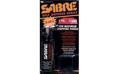Sabre Spray 2.5Oz Red Pepper Cs Tear Gas & Uv Dye Hm-80