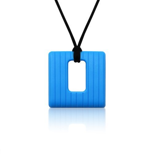 Siliconies Square Pendant (Teething/Nursing/Sensory) - Ultramarine Blue - 1
