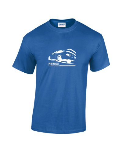 Ford Sierra Cosworth RS500 Retro Car T-Shirt (Royal Large)
