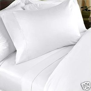 Solid White Waterbed Sheets 600 Thread Count 100% Egyptian Cotton Queen Waterbed Attached By Luxury Egyptian Cotton