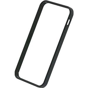 パワーサポート フラットバンパーセット for iPhone5(ブラック)PJK-62