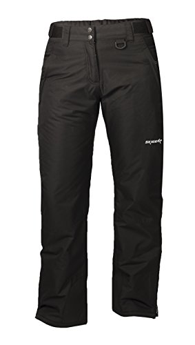 SkiGear by Arctix Women's Waterproof Insulated Ski Pants | Classic Style Snow Pants with ThermaTech Insulation , Black , Small (Fly Insulated Pants compare prices)