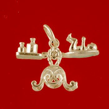 9ct Yellow Gold Baby on Scales Charm Pendant