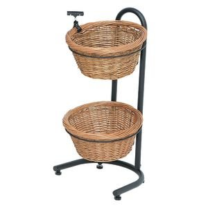 2-1 Tiered Basket Stand Wicker (Mobile Fruit Stand compare prices)