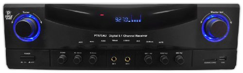 Pyle Home Pt570Au 5.1-Channel 350 Watts Am/Fm Radio With Usb/Sd Card And Amplifier Receiver