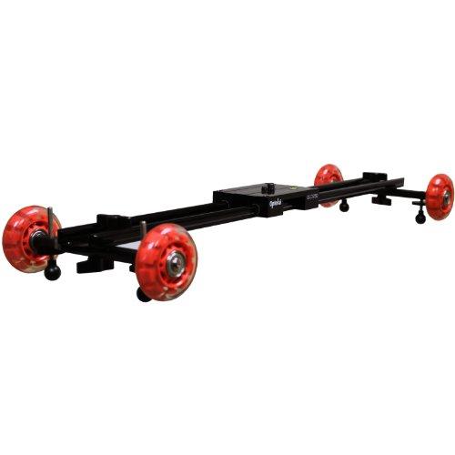 Opteka GLD-750 Hybrid Camera Stablizer Track Slider / Table Dolly with Skate Wheels