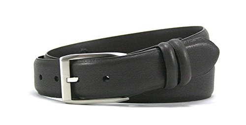 Leather Island 35mm Soft Black Napa Leather Belt