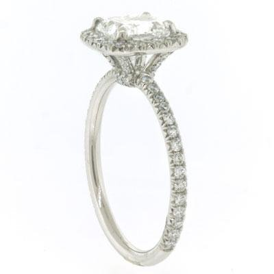 2.35ct Cushion Cut Diamond Engagement Anniversary Ring