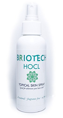 BRIOTECH HOCL Topical Skin Spray, All Natural, 4 oz. Bottle Size