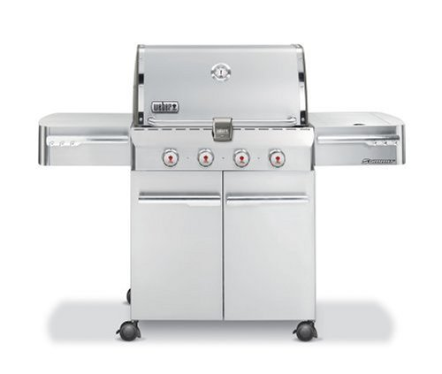 Weber 1710001 Summit S-420 Propane Gas Grill, Stainless Steel
