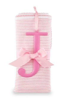Mud Pie Cotton Receiving Blanket, J