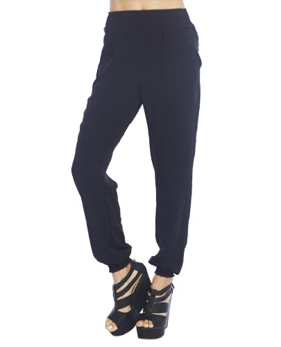 Wet Seal Women's Solid Smocked Jogger Pant S Black at Sears.com