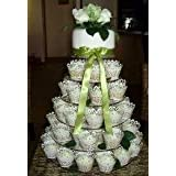 6 Tier Circle 5mm Thick Cupcake Wedding Party Cup Cake Fairy Display Stand by Classikool�by cakestandz