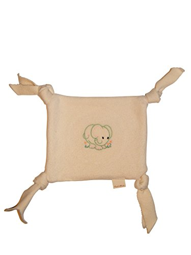 Soft, Safe Organic Teething Blanket Lovie- Perfect Little Baby Gift - MADE IN THE USA - Certified Organic Cotton - 1