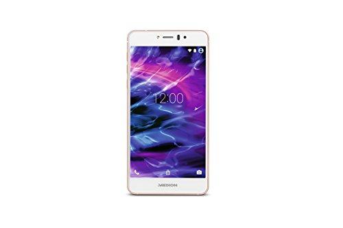 Medion X5020 Smartphone (12,7 cm (5 Zoll) Full-HD Touchscreen-Display, 13 Megapixel Kamera, Octa-Core-Prozessor, Dual-SIM, 32GB interner Speicher, Android Lollipop 5.1) rose