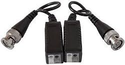 Smartcom - 2 Pair CCTV Video Balun, AHD, HD-TVI, HD-CVI, UTP, Cat5 Passive Pair, BNC Male