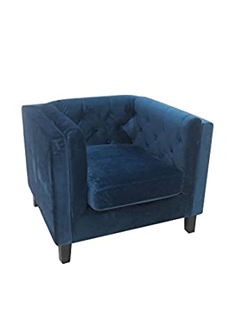 """Patmos"" armchair one seat blue"