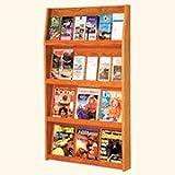 Wooden Mallet 24-Pocket Slope Literature Display, Light Oak