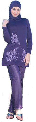 FULL COVER FULL LENGTH MODEST WOMENS LADIES MUSLIM ISLAMIC SWIMSUIT SWIMWEAR SWIMMING COSTUME (model 355)