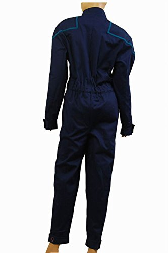 Star Trek Enterprise Duty Jumpsuit Uniform Cosplay Kostuem Blau