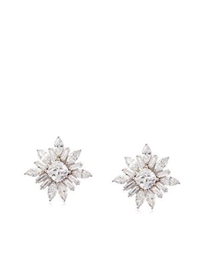 CZ by Kenneth Jay Lane Cushion Starburst Post Earrings