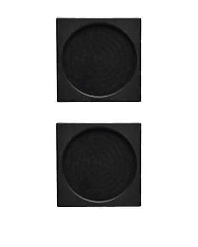 Fortessa Set of 2 Square Slate Dish Underliners, Black