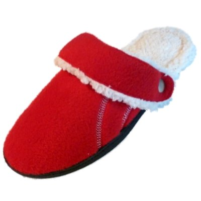 Cheap Isotoner Womens Red Flipables Clog Style Slippers Fleece & Fur (081712-110)