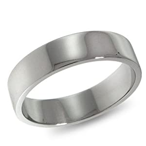 Platinum, Flat Wedding Band 5MM (sz 10)