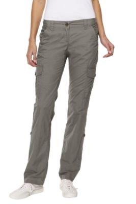 Women's Regular Sanded Poplin Roll-hem Cargo Trousers