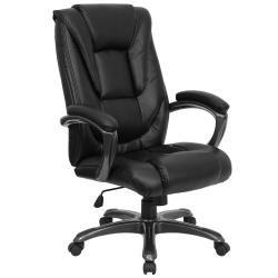 Flash furniture Black Leather Office Chair, GO-7194B-BK-GG