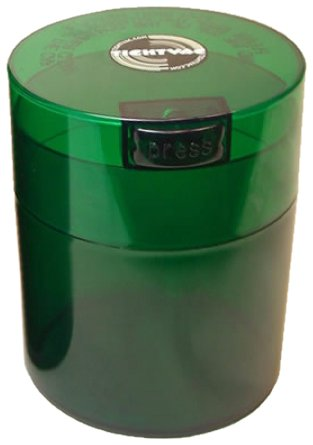 Tightvac Coffeevac 1/2 Pound Vacuum Sealed Storage Container, Emerald Tinted Body/Cap