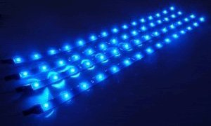 Cutequeen Trading 30Cm 5050 12Smd Led Car Flexible Waterproof Light Strip Blue (Pack Of 4)