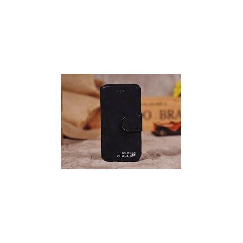 AZEAL iphone6 高品質レトロ調 レザー ケース【iphone & iPad 用 ホームボタン シール 付き】/ カバー アイフォン6 ブラック おまけホームボタン白×銀