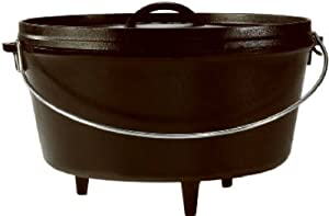 Lodge Mfg L12DCO3 Camping Dutch Oven, With Feet, Seasoned Cast Iron, 8-Qts. -... by Lodge