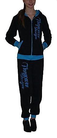 "Damen Trend ""Jogger"" Trainingsanzug Kapuzenpulli + Hose Gr. 34-44 S&LU Rot S"