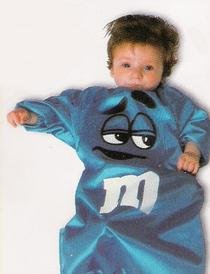 M&M Baby Bunting Costume Blue