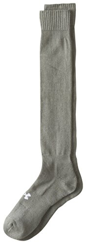 Under Armour Men's Heatgear Boot Socks (1-Pack) XL Mens' shoe Size 13-16 Gray