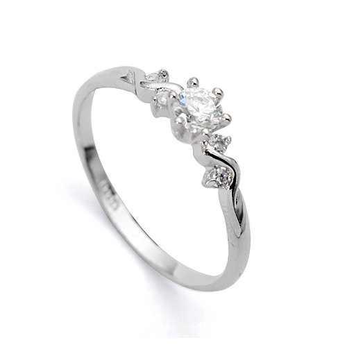Magic Collection White Gold Finish Flower & Leaf